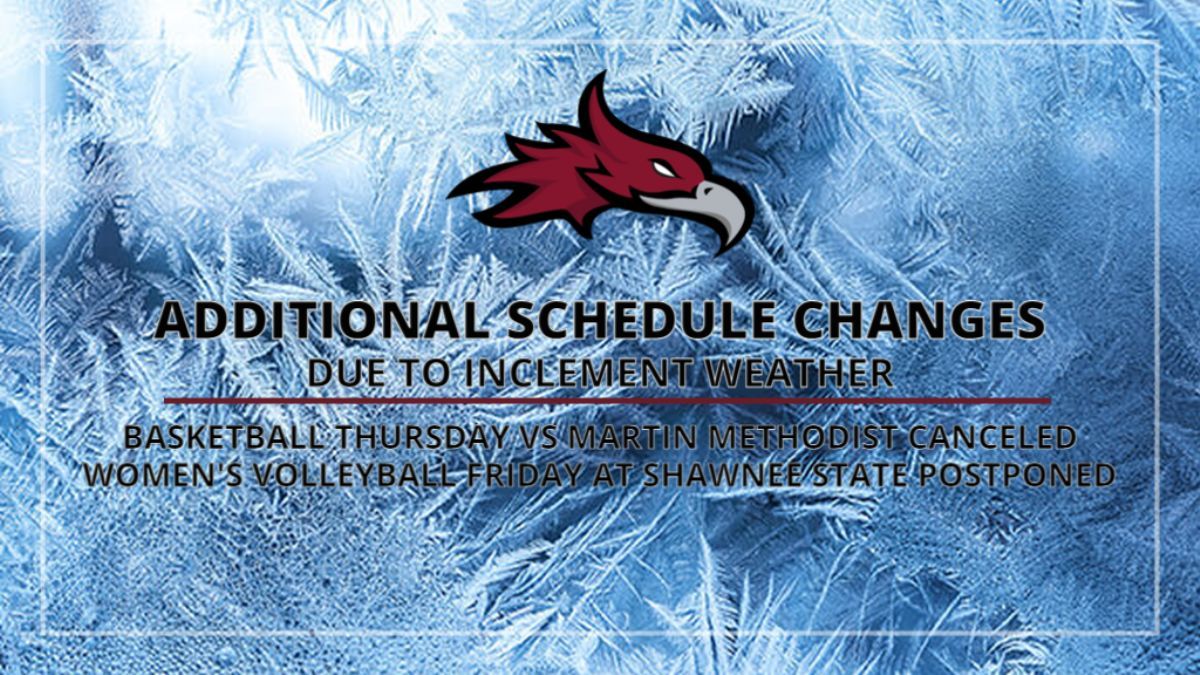 Additional Schedule Changes for this week