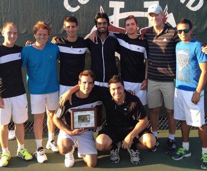 Men's tennis claims MSC regular season championship