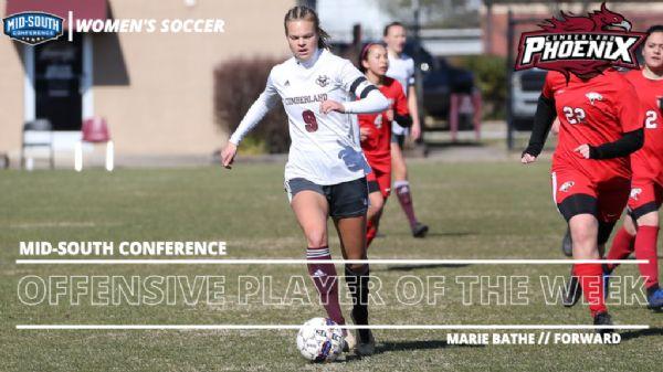 Bathe earns MSC Women's Soccer Offensive Player of the Week