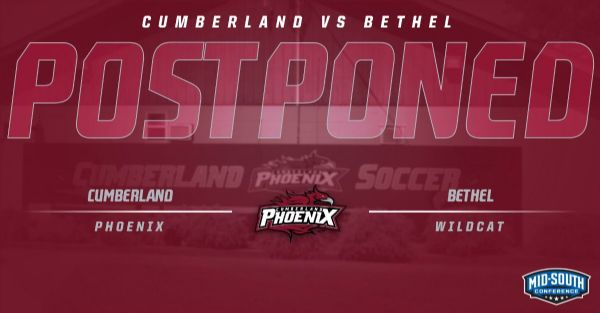 Soccer versus Bethel this Sunday has been postponed