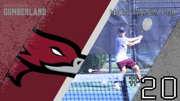 Men's Tennis moves up to No. 20 in latest NAIA Polls