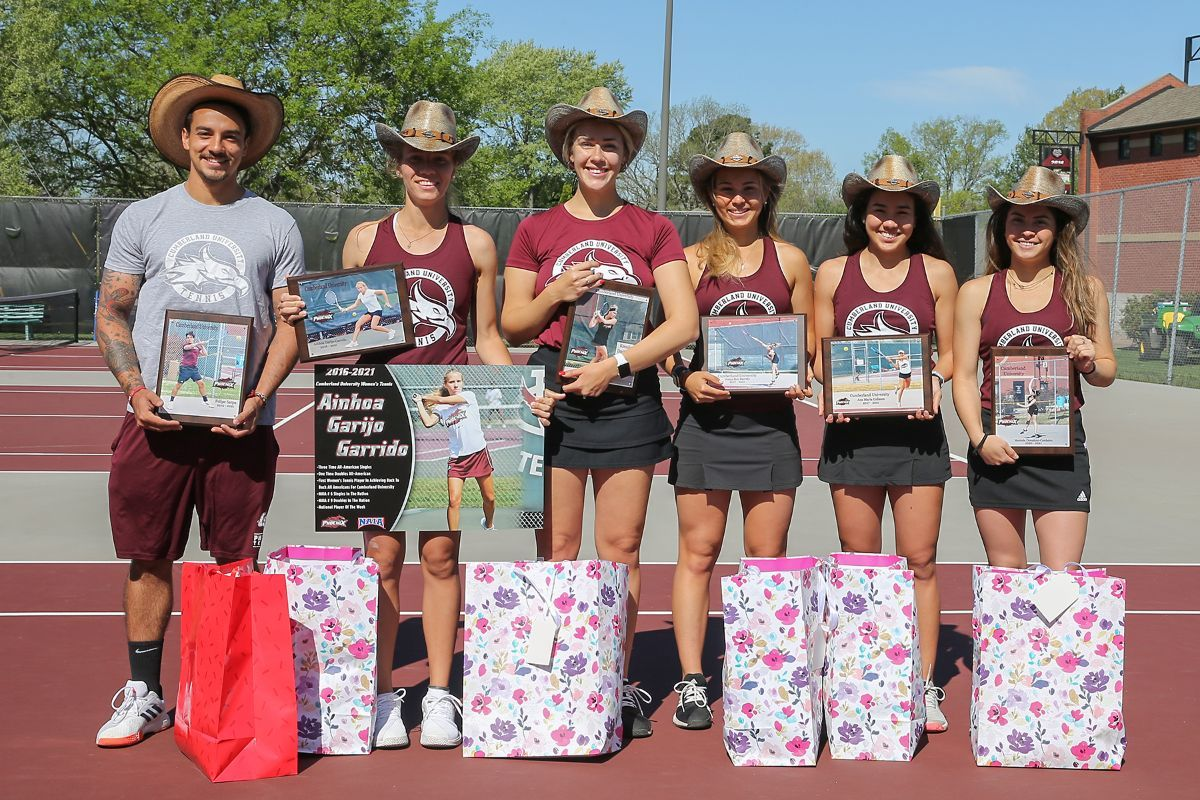 CU Men's and Women's Tennis sweep UPike 7-0 on Senior Day