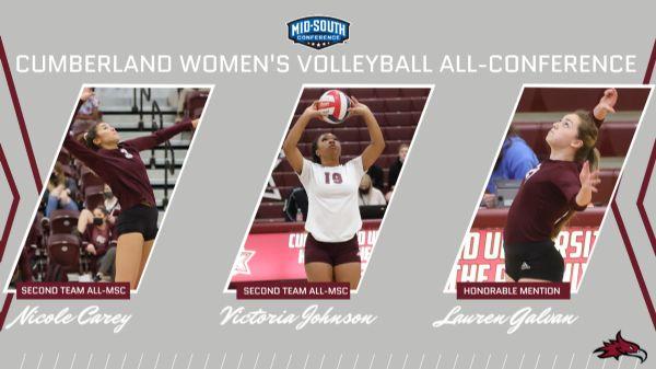 Carey, Johnson, and Galvan earn All-MSC honors