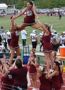 Cheerleaders during Football Game