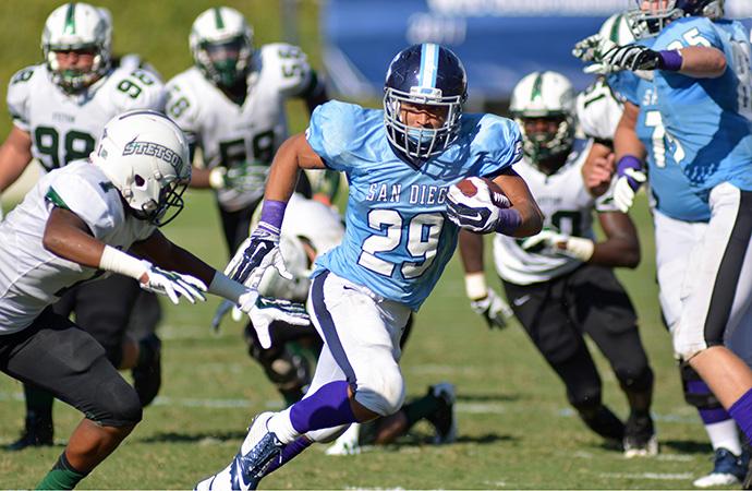 San Diego running back Jonah Hodges.