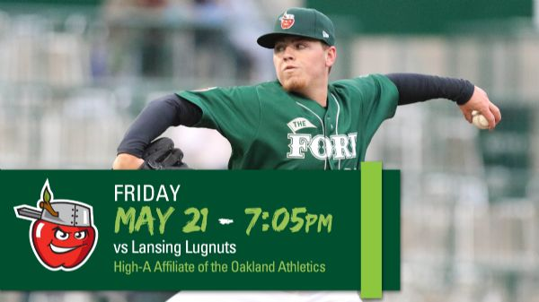 Lansing Lugnuts   Friday, May 21, 2021   7:05  p.m.