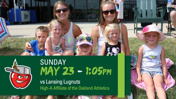 Lansing Lugnuts | Sunday, May 23, 2021 | 1:05  p.m.