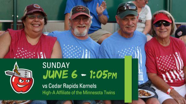 Cedar Rapids Kernels | Sunday, June 6, 2021 | 1:05  p.m.