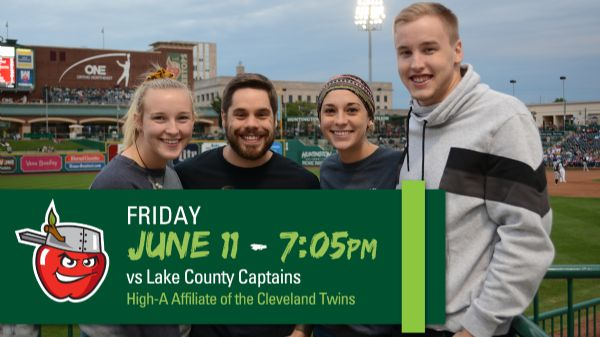 Lake County Captains | Friday, June 11, 2021 | 7:05  p.m.