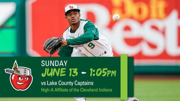 Lake County Captains | Sunday, June 13, 2021 | 1:05  p.m.