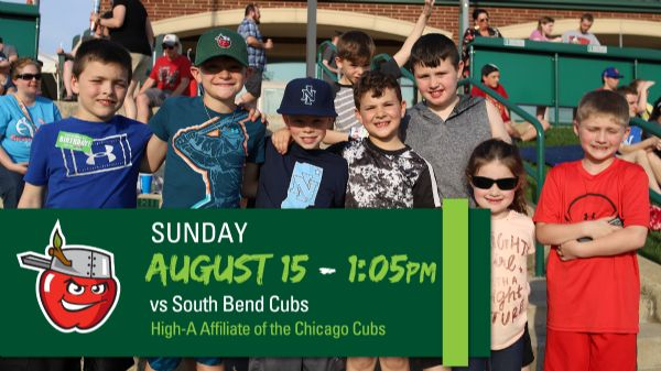 South Bend Cubs   Sunday, August 15, 2021   1:05  p.m.