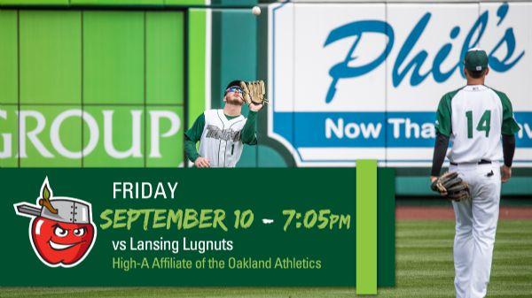 Lansing Lugnuts | Friday, September 10, 2021 | 7:05  p.m.
