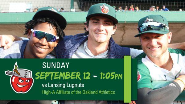 Lansing Lugnuts   Sunday, September 12, 2021   1:05  p.m.