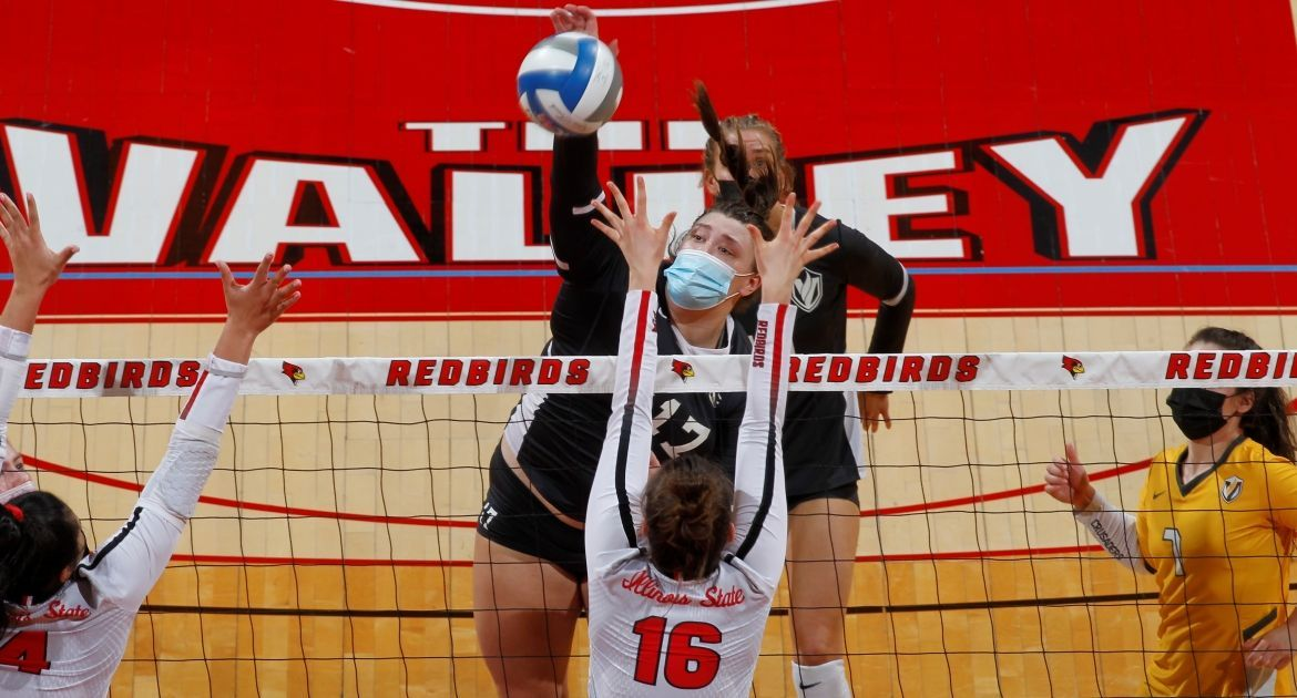 Volleyball Falls in Four Sunday at Illinois State