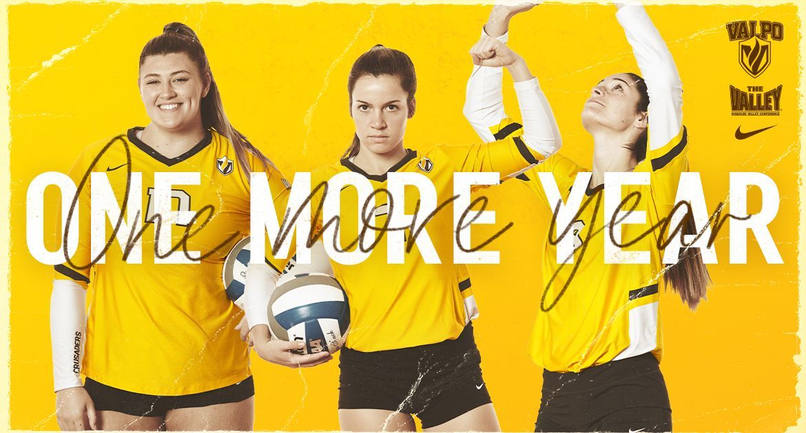 Anderson, Cookerly, McCarthy Set to Return In Fall for Valpo Volleyball