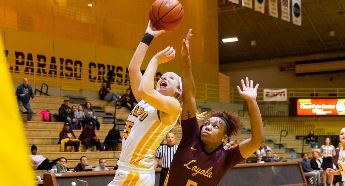 Epic Rally Delivers Valpo Women Stunning Win Over Loyola