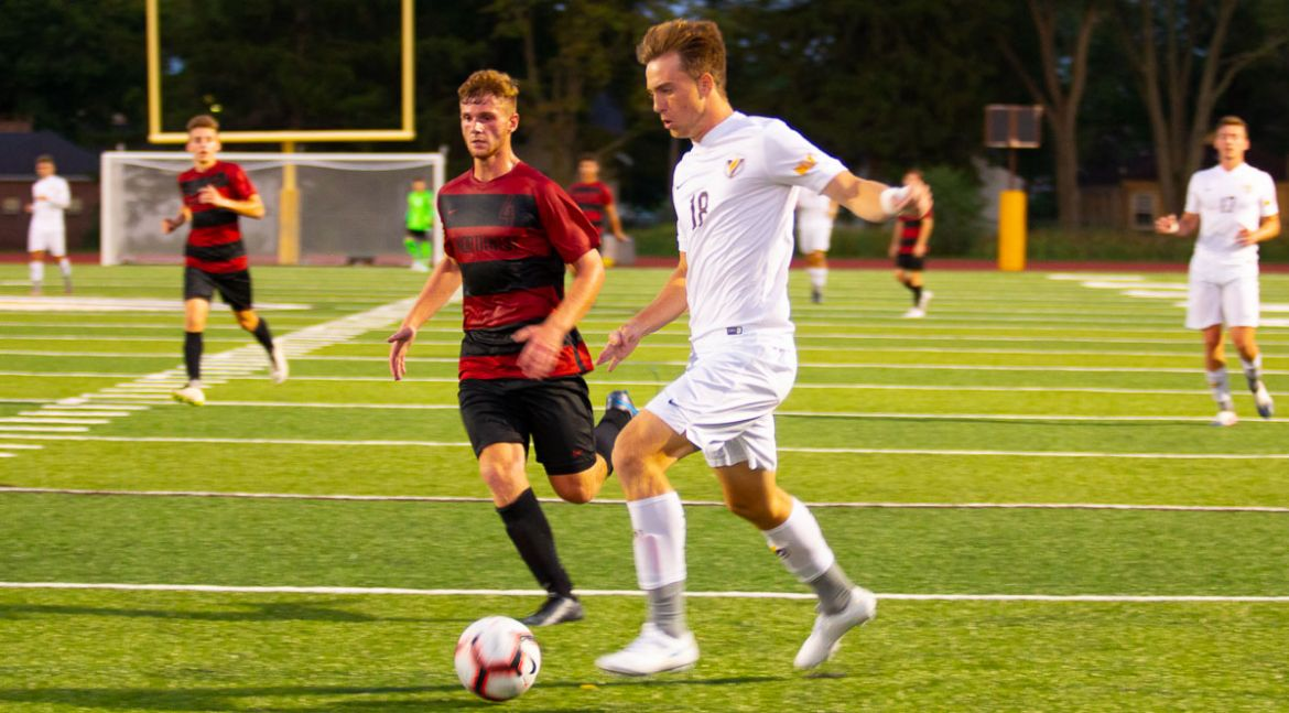 Men's Soccer Rolls to Victory in Home Opener