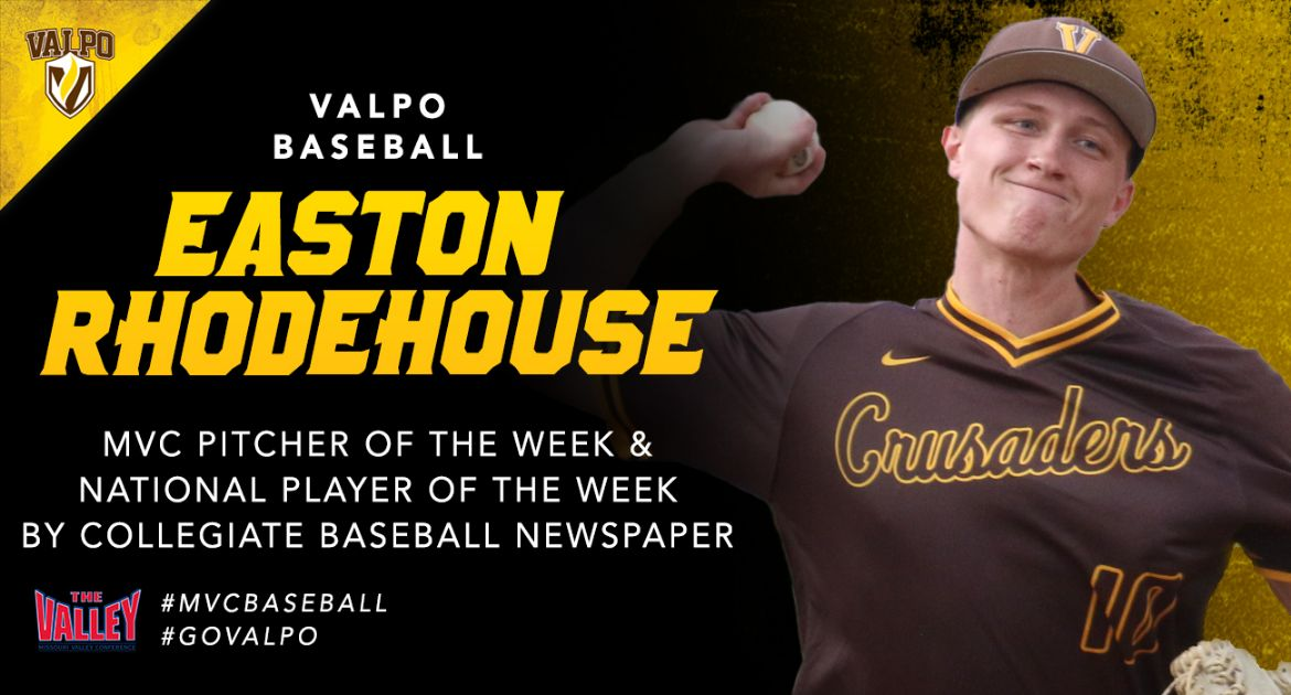 Rhodehouse Wins MVC Pitcher of the Week Award, Named a National Player of the Week
