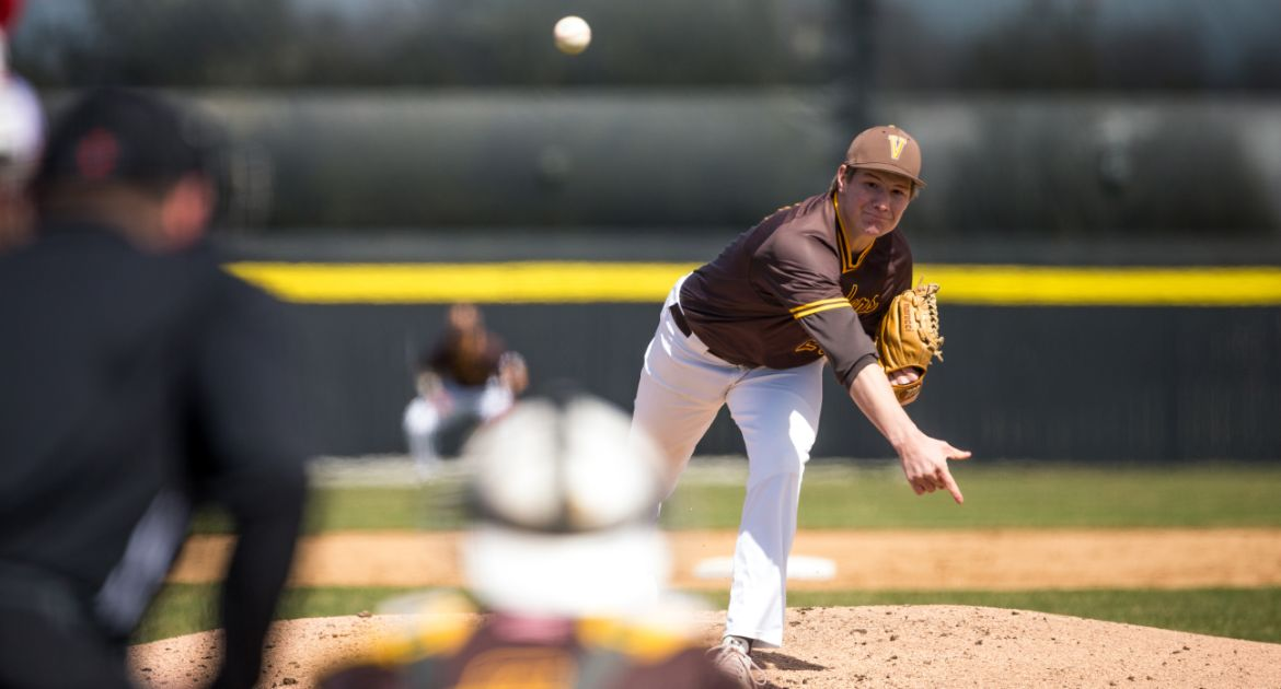 Tieman Tosses Complete Game to Help Valpo to Heart-Pounding Win in Series Opener