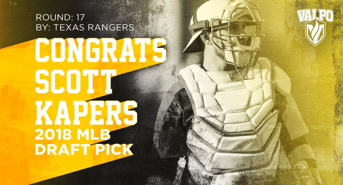 Scott Kapers Selected by Texas Rangers in MLB Draft