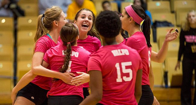 Volleyball Closes Out First Half of League Play Victorious