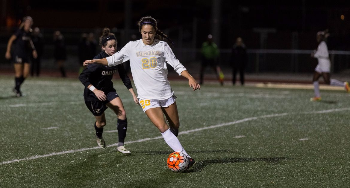 Women's Soccer Opens League Championship at Oakland Monday Night