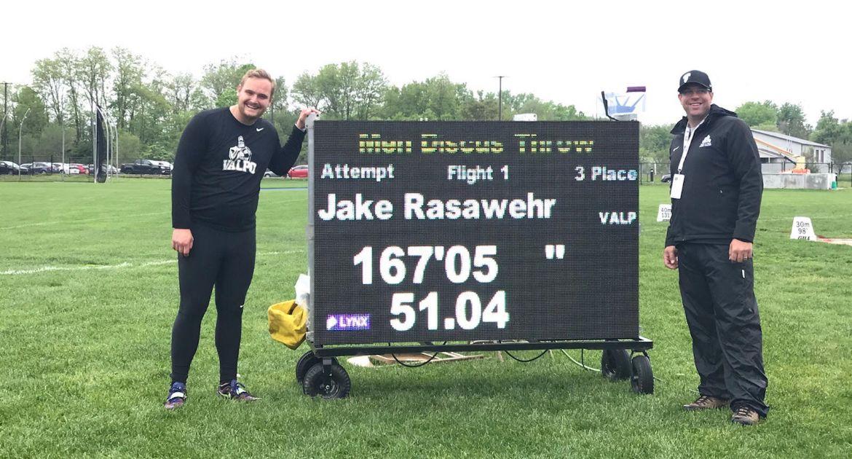 Rasawehr Earns All-MVC Honors;  Rustmann Sets School Record