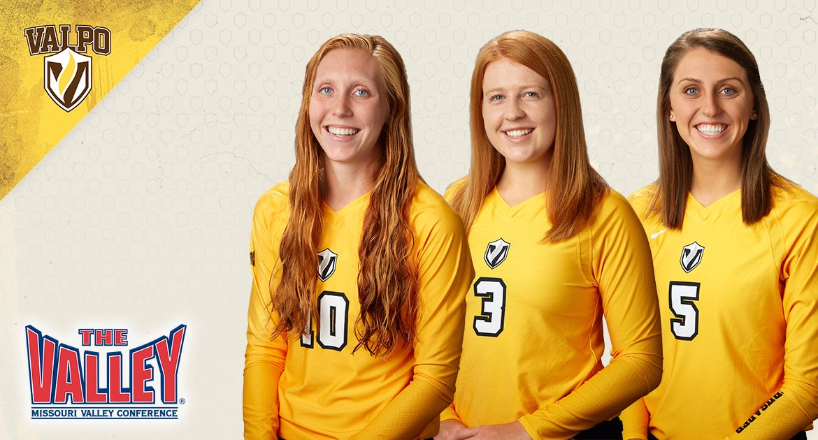 Trio of Crusaders Named to MVC Volleyball Scholar-Athlete Teams