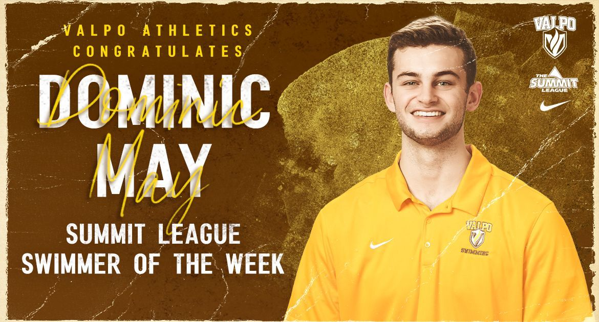 Dominic May Wins Summit League Swimmer of the Week
