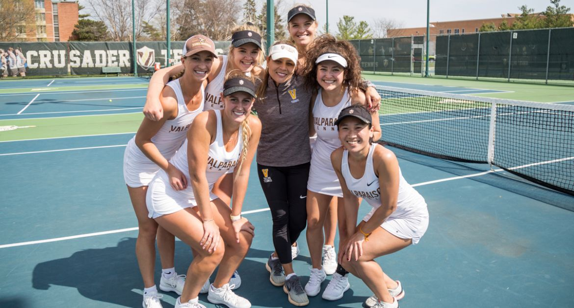 Tammy Cecchini Coaches Final Match for Valpo Women's Tennis