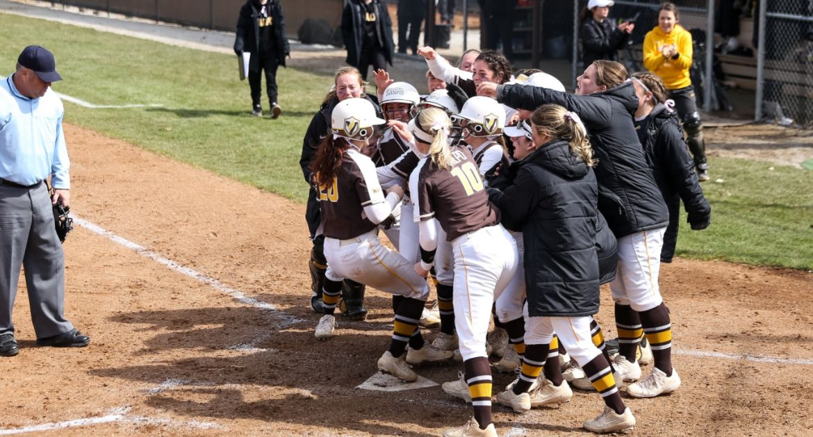 Softball Splits Doubleheader With Missouri State; Stake Earns 100th Career Win