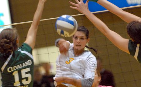 Crusaders Ride Rally to Five-Set Victory in Home Opener