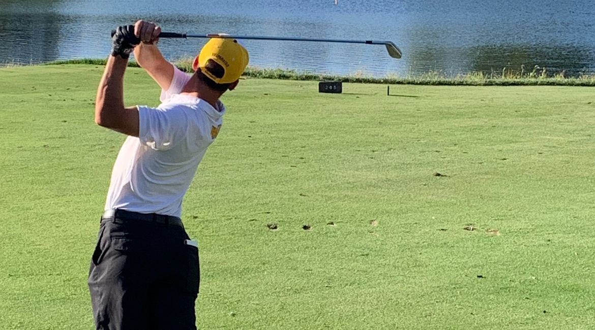 Men's Golf in Team Title Contention Through Day 1 at Drake
