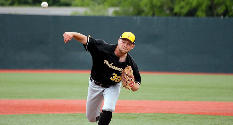 Trevor Haas blanked Wright State for 4 1/3 innings Saturday at Nischwitz Stadium. (Tim Zechar)