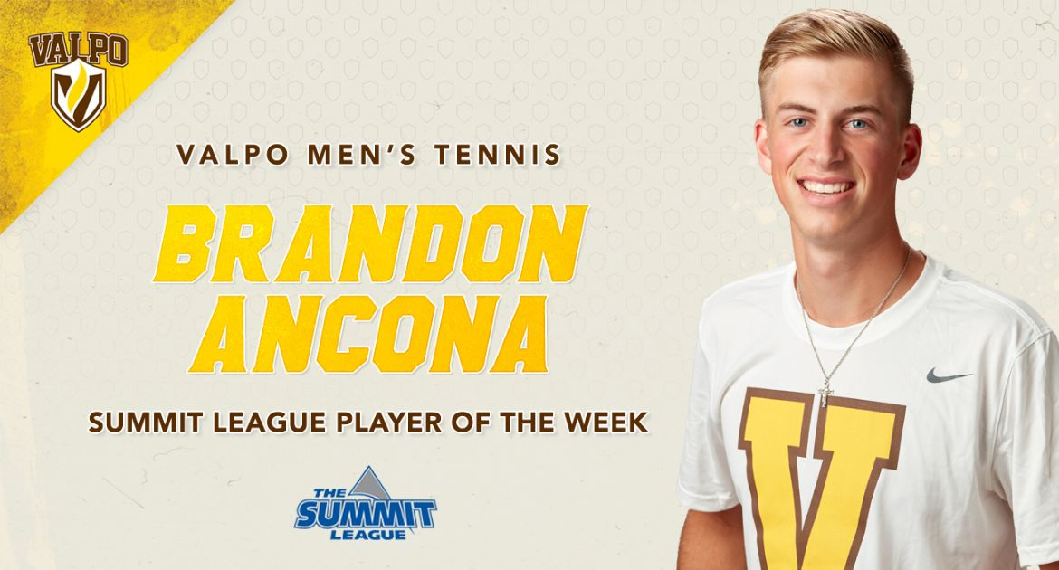 Ancona Wins Valpo's First Summit League Player of the Week Honor