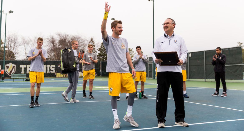 Gardner Honored on Senior Day for Valpo Men's Tennis