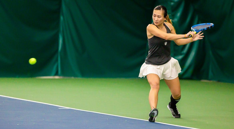 Women's Tennis Surpasses Last Year's Win Total on Sunday