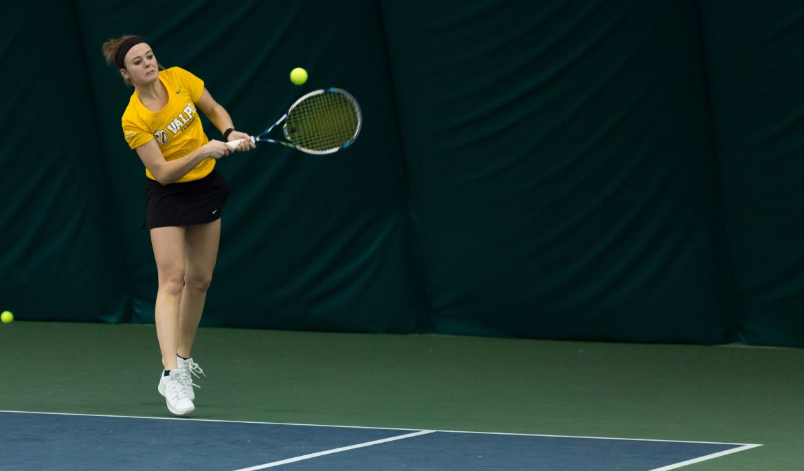Hebble, Heuer Win at No. 1 Doubles in Women's Tennis Loss to Dayton