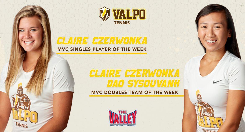 Women's Tennis Sweeps Valley's Weekly Awards