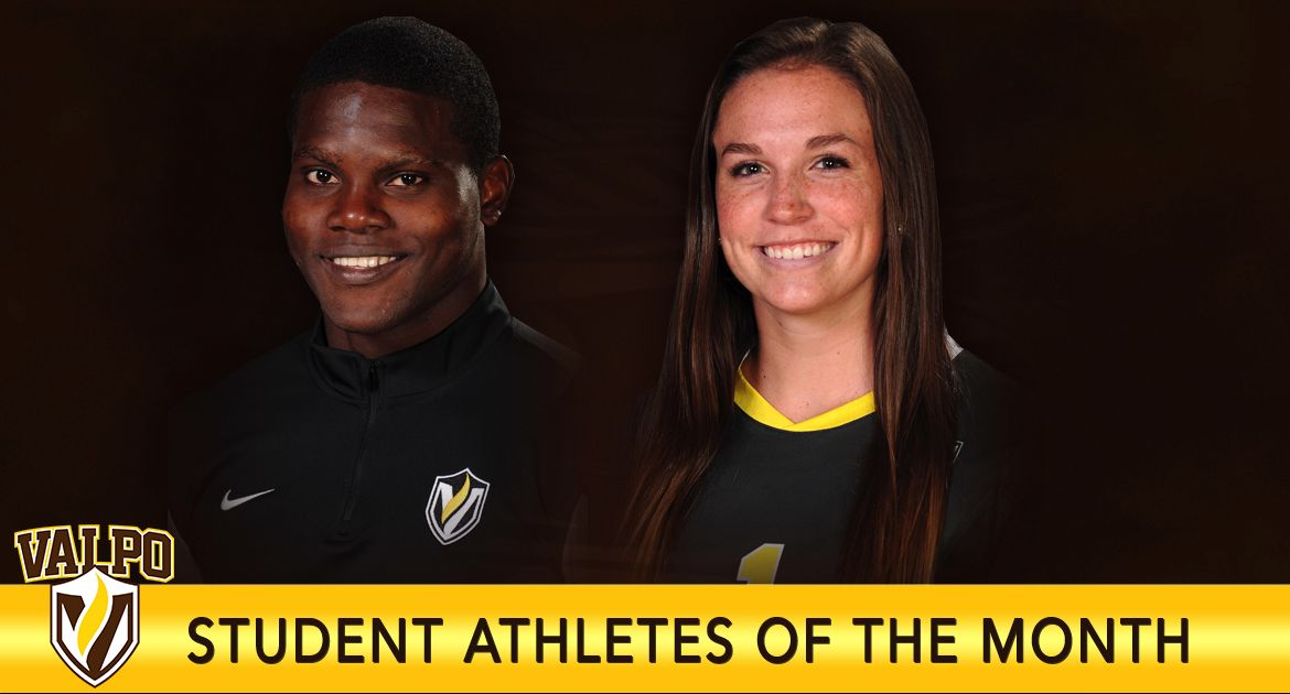 Nico Campbell, Emily Campbell Named Valpo Athletes of the Month