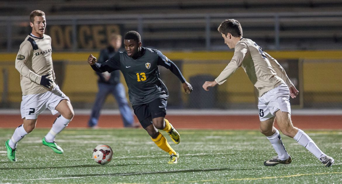 Men's Soccer Ties with Oakland, Advances to Horizon League Championships