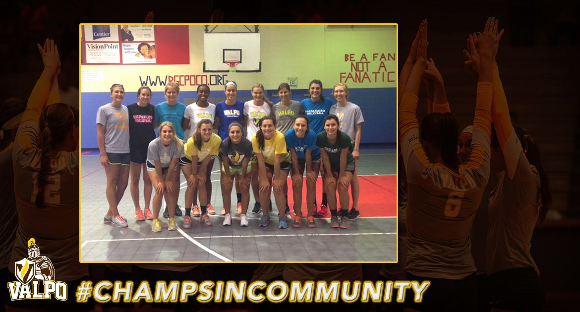 Volleyball Holds Camp at Boys & Girls Club