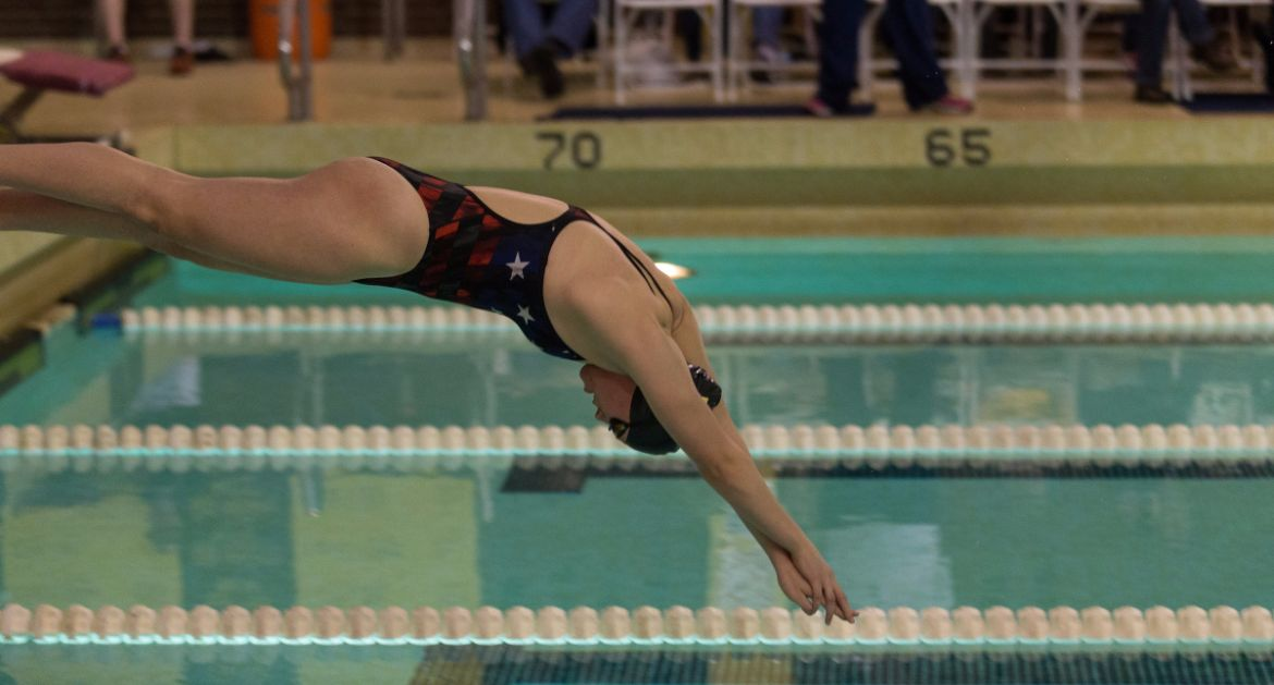 School Record Falls In Swimming's Second Day at Calvin
