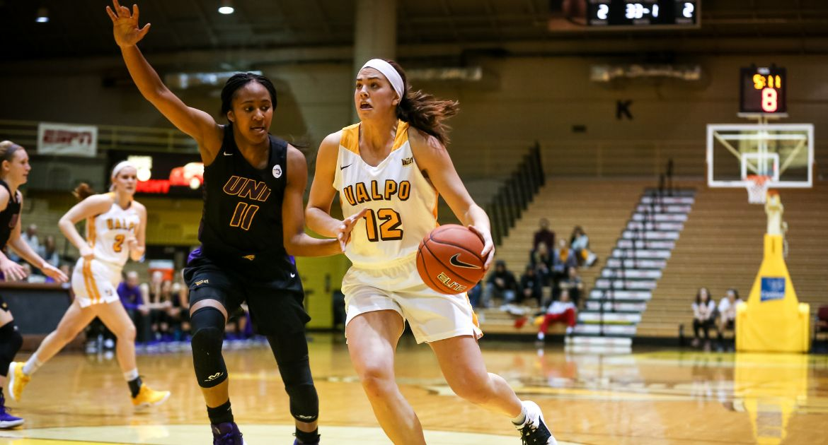 Four Valpo Players Reach Double Figures in Road Setback