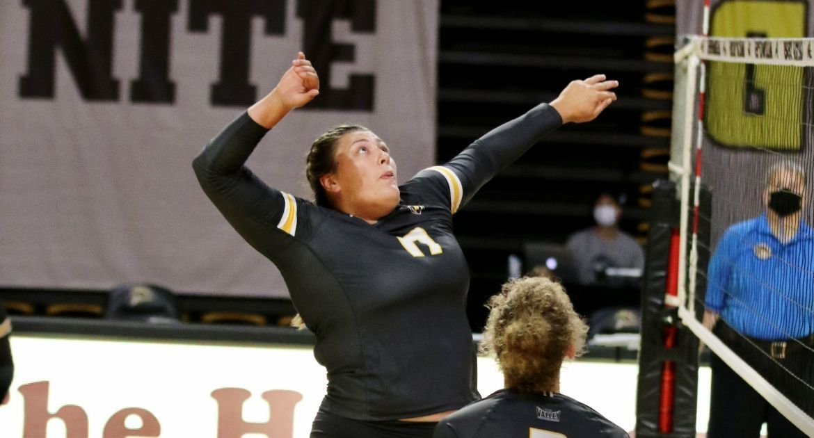 Cookerly Cracks NCAA Top-10 In Career Digs As Volleyball Wins Twice Friday