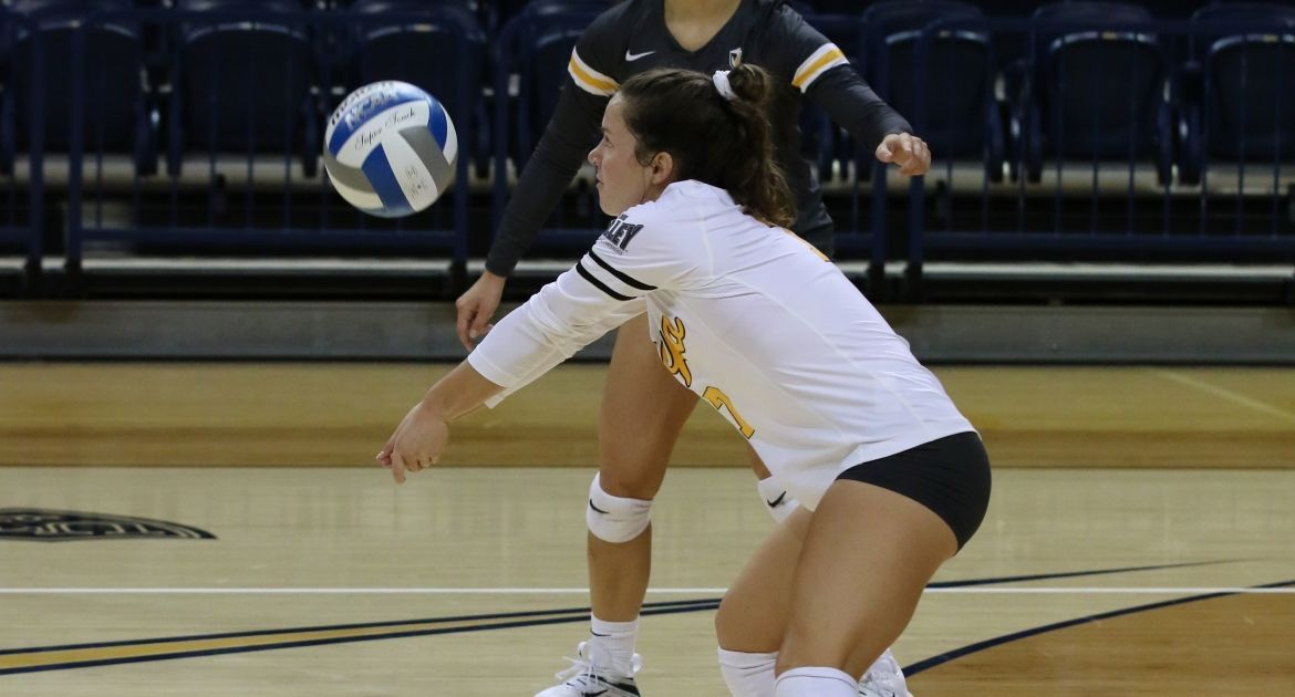 Cookerly Sets Career Digs Record; Volleyball Opens MVC Play With Win at SIU