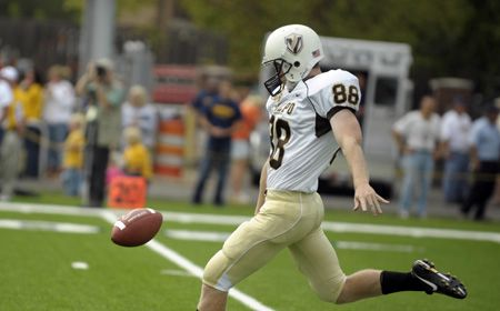 Wood Earns Punting Honors for Second Time This Season