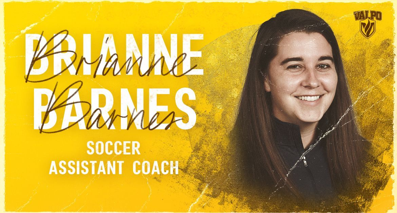 Brianne Barnes Joins Valpo Soccer Program as Assistant Coach