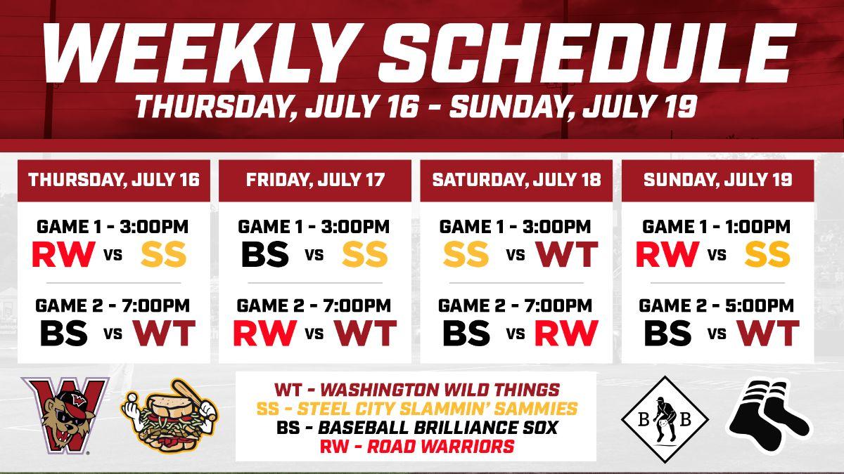Week 2 Schedule Announced