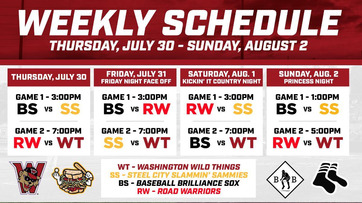 Week 4 Schedule Announced